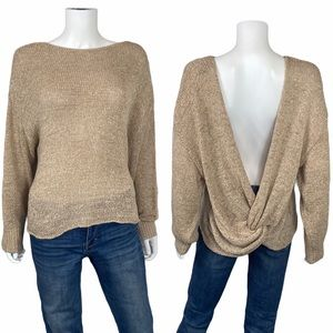 H&M Tan Open Back Sweater Size M